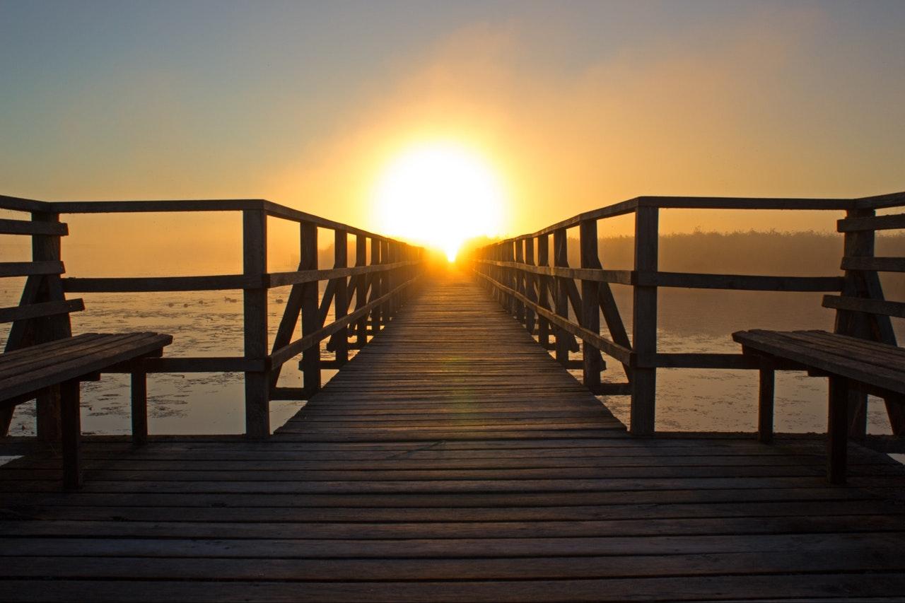camino madera sol